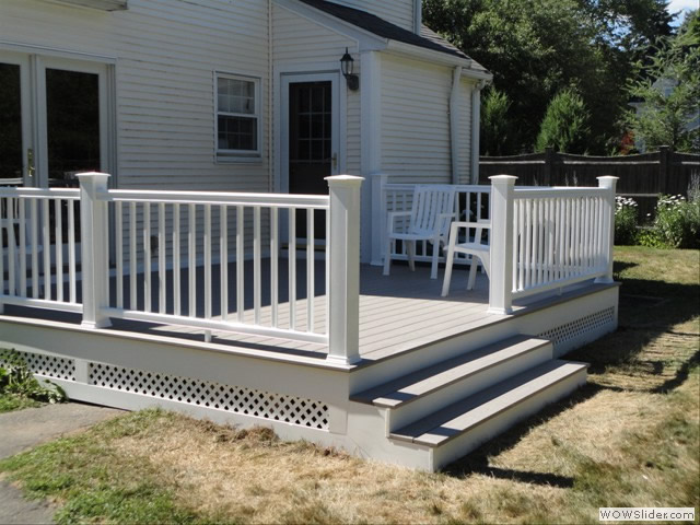 Azec decking used on this Wenham deck by TPM Construction